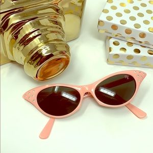 Pink Ladies Cat Eye Sunnies with crystal bling